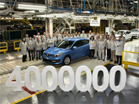 "Cuatro millones del Renault Mégane ""Made in Spain"""