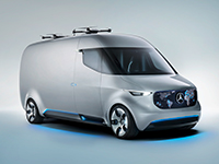 Mercedes-Benz presenta una nueva furgoneta de corte futurista
