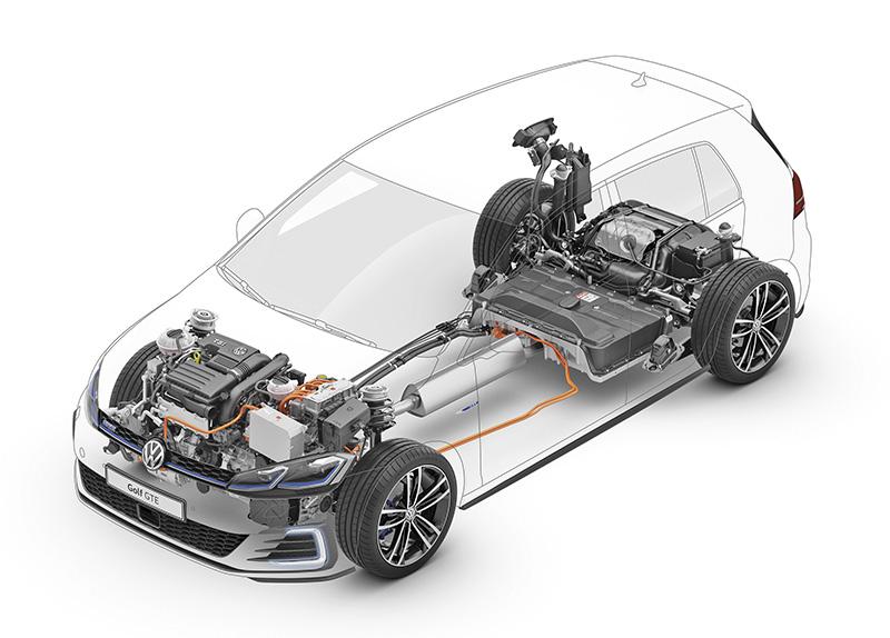 Volkswagen Golf GTE esquema