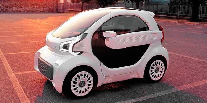 Primer coche con piezas impresas en 3D