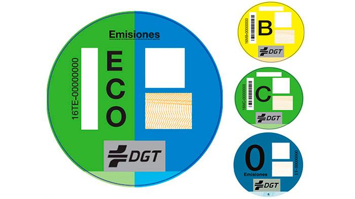 Etiquetas ecológicas de la DGT