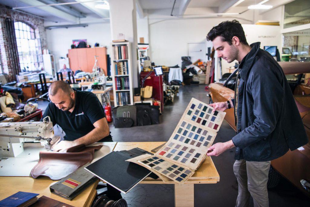 taller de tapicería en el Klassikstadt
