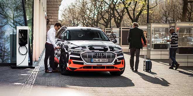 Audi facilitará la carga de sus coches eléctricos en el domicilio del conductor