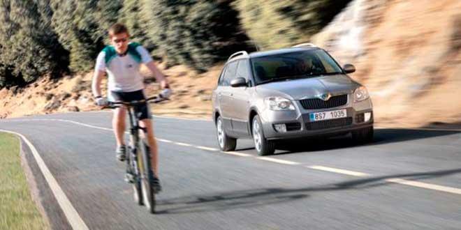 Adelantamiento a ciclistas