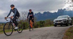 Seat estrena en el nuevo Tarraco un sistema de protección a ciclistas