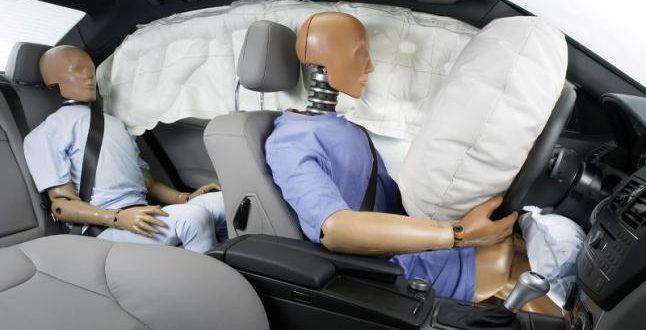 tipos de airbag en vehiculos
