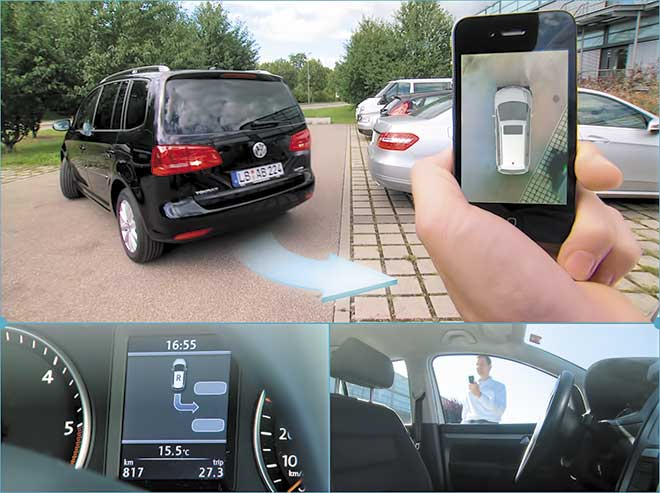 Volkswagen incorpora, en algunos modelos, un sistema que permite aparcar el vehículo desde el teléfono móvil