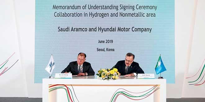 Hyundai y Saudi Aramco firman un acuerdo para impulsar el desarrollo del hidrógeno