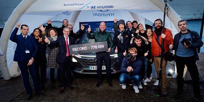 Nuevo récord mundial de distancia al volante de un vehículo de pila de hidrógeno