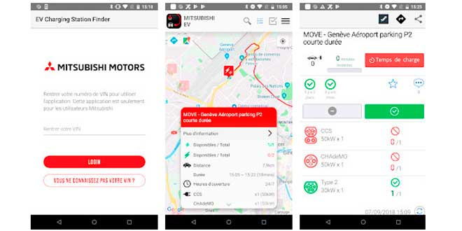 EV Charging Station Finder Mitsubishi apps