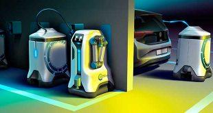 Volkswagen desarrolla un robot autónomo para cargar coches eléctricos