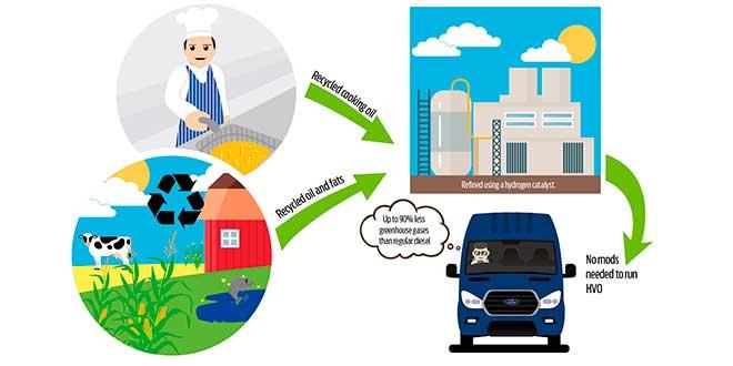 Ford crea un combustible ecológico fabricado a partir de aceite de cocina