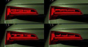Audi lanza una nueva generación de pilotos de iluminación OLED digital
