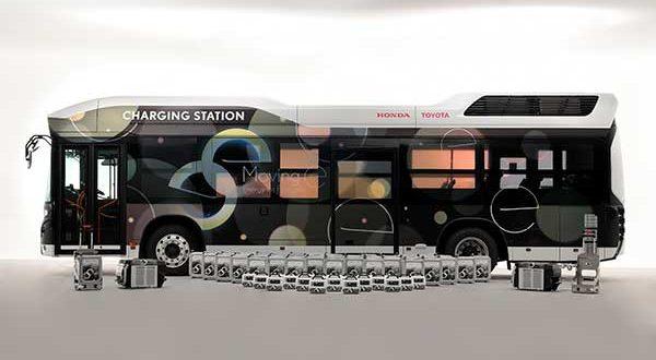 """Toyota y Honda crean """"Moving e"""", un generador móvil de energía para desastres naturales"""