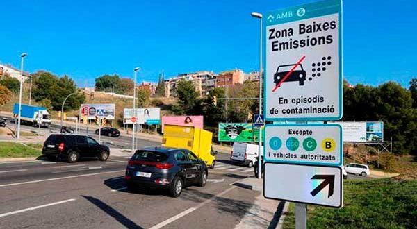 Los coches con etiqueta B no podrán acceder a la ZBE de Barcelona en 2022